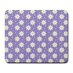 Daisy Dots Violet Large Mousepads