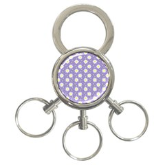 Daisy Dots Violet 3 Ring Key Chains