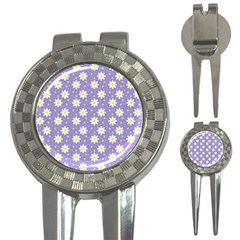 Daisy Dots Violet 3 In 1 Golf Divots