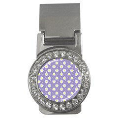 Daisy Dots Violet Money Clips (cz)