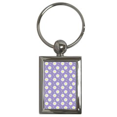 Daisy Dots Violet Key Chains (rectangle)