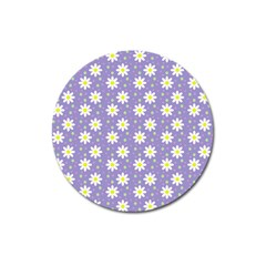 Daisy Dots Violet Magnet 3  (round)