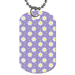 Daisy Dots Violet Dog Tag (one Side)