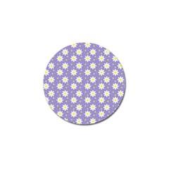 Daisy Dots Violet Golf Ball Marker