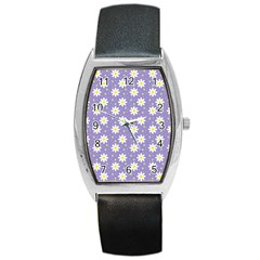 Daisy Dots Violet Barrel Style Metal Watch