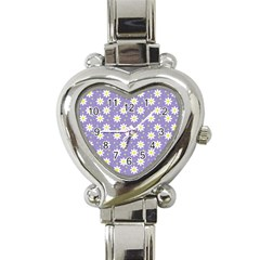 Daisy Dots Violet Heart Italian Charm Watch