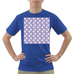 Daisy Dots Violet Dark T Shirt