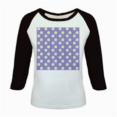 Daisy Dots Violet Kids Baseball Jerseys