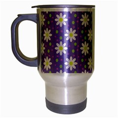 Daisy Dots Violet Travel Mug (silver Gray)