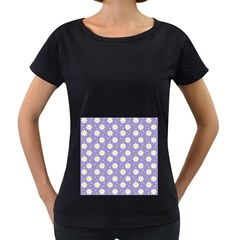 Daisy Dots Violet Women s Loose Fit T Shirt (black)
