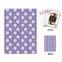 Daisy Dots Violet Playing Card