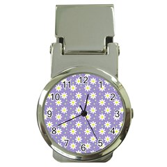 Daisy Dots Violet Money Clip Watches