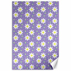 Daisy Dots Violet Canvas 12  X 18