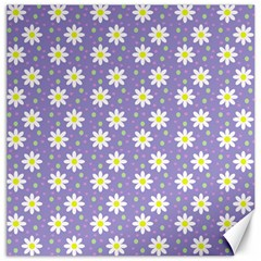 Daisy Dots Violet Canvas 16  X 16
