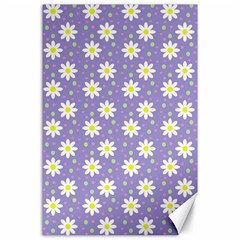 Daisy Dots Violet Canvas 24  X 36