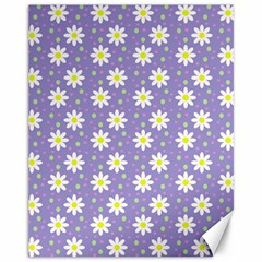 Daisy Dots Violet Canvas 11  X 14