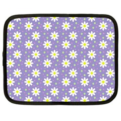 Daisy Dots Violet Netbook Case (large)