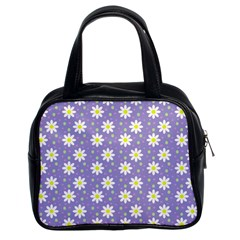 Daisy Dots Violet Classic Handbags (2 Sides)