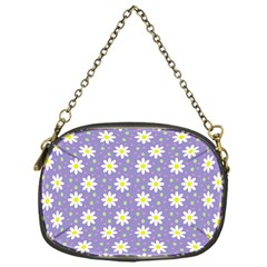 Daisy Dots Violet Chain Purses (one Side)