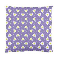 Daisy Dots Violet Standard Cushion Case (two Sides)