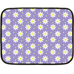 Daisy Dots Violet Fleece Blanket (mini)