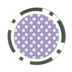 Daisy Dots Violet Poker Chip Card Guard (10 Pack)