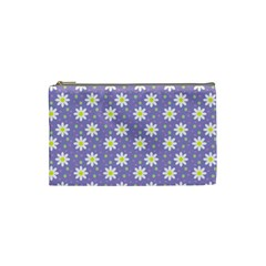 Daisy Dots Violet Cosmetic Bag (small)