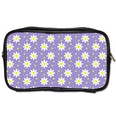 Daisy Dots Violet Toiletries Bags 2 Side