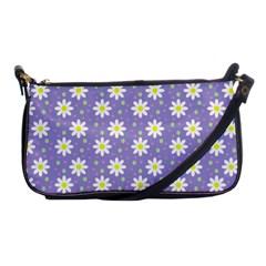 Daisy Dots Violet Shoulder Clutch Bags