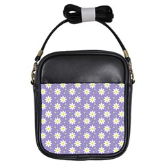 Daisy Dots Violet Girls Sling Bags