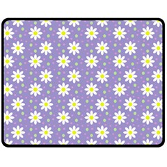 Daisy Dots Violet Fleece Blanket (medium)