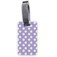 Daisy Dots Violet Luggage Tags (one Side)
