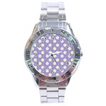 Daisy Dots Violet Stainless Steel Analogue Watch Front