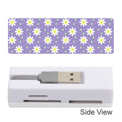 Daisy Dots Violet Memory Card Reader (stick)