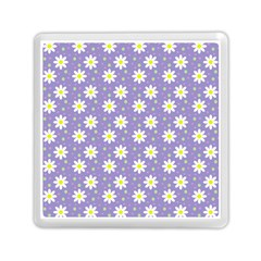 Daisy Dots Violet Memory Card Reader (square)