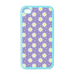 Daisy Dots Violet Apple Iphone 4 Case (color)