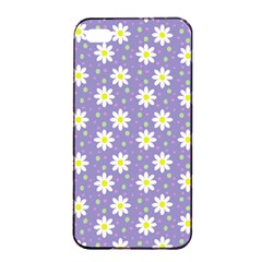 Daisy Dots Violet Apple Iphone 4/4s Seamless Case (black)
