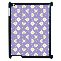 Daisy Dots Violet Apple Ipad 2 Case (black)