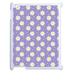 Daisy Dots Violet Apple Ipad 2 Case (white)