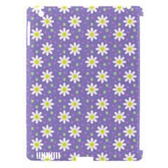 Daisy Dots Violet Apple Ipad 3/4 Hardshell Case (compatible With Smart Cover)