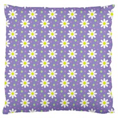 Daisy Dots Violet Large Cushion Case (one Side)