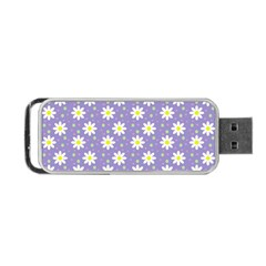 Daisy Dots Violet Portable Usb Flash (one Side)