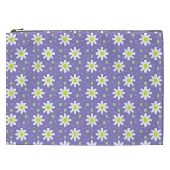 Daisy Dots Violet Cosmetic Bag (xxl)