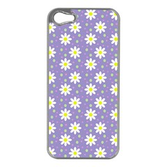 Daisy Dots Violet Apple Iphone 5 Case (silver)