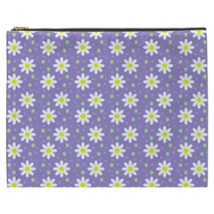 Daisy Dots Violet Cosmetic Bag (xxxl)