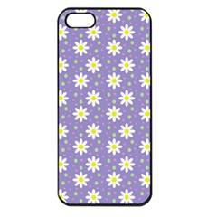 Daisy Dots Violet Apple Iphone 5 Seamless Case (black)