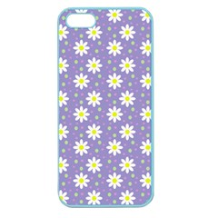 Daisy Dots Violet Apple Seamless Iphone 5 Case (color)