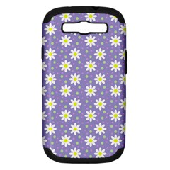 Daisy Dots Violet Samsung Galaxy S Iii Hardshell Case (pc+silicone)