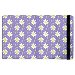 Daisy Dots Violet Apple Ipad 2 Flip Case
