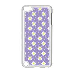 Daisy Dots Violet Apple Ipod Touch 5 Case (white)
